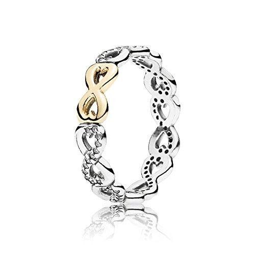 Pandora Damen Ring Verbundene Unendlichkeit 190948CZ-50