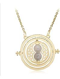 a2c8ec6131fd Scrox 1x pcs bisutería Dorada en Forma de Reloj de Arena Accesorios para  Mujer Collar de
