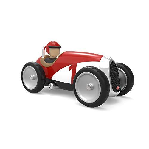 Baghera Voiture de Course pour Enfants, Jouet pour Bébé 1 an et Plus, Racing Car Red Style Vintage, Plastique ABS résistant, Conception Française.