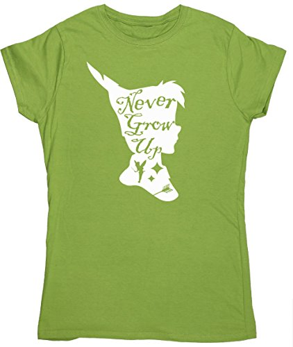 hippowarehouse-never-grow-up-pan-silhouette-womens-fitted-short-sleeve-t-shirt