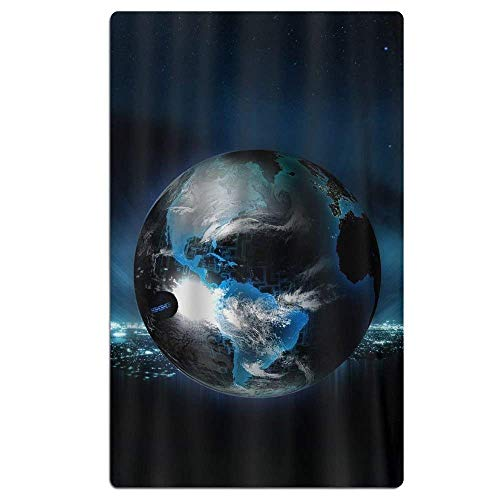 Ball Globe Planet Light Neon Beach Towel Soft Quick Dry Lightweight High Absorbent Pool Spa Towel for Adult 31 X 51 Inch