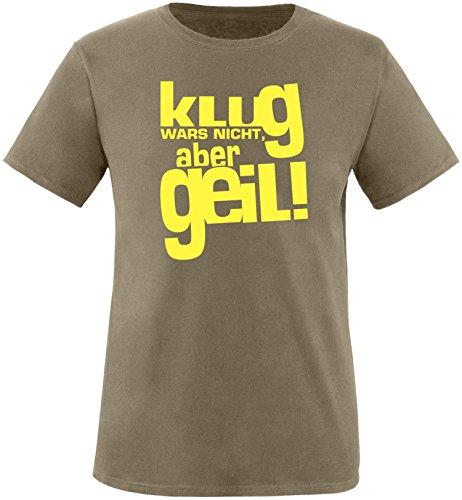 Luckja Klug war es nicht aber Geil Herren Rundhals T-Shirt Oliv/Gelb