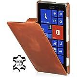 Stilgut exklusive Ledertasche Ultraslim für Nokia Lumia 925 in Cognac