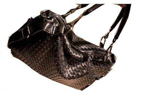 PACK Handmade Rivet Handbags Borsa Diagonale Big Shoulder Casual Spalla Fashion Big Bag,A:Blue B:Black