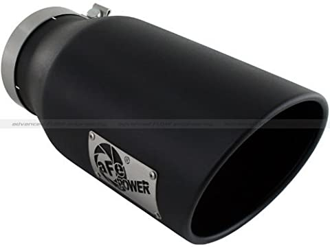 aFe 49-92027-B Mach FORCE XP Black 5 Inlet x 7 Outlet x 15 Length 304 Stainless Steel Direct Bolt-On Wrinkle Exhaust Tip by aFe Power