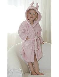 Leela Cotton Niños Albornoz Color Rosa Bebé Albornoz de algodón ecológico