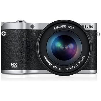 Samsung NX300 Systemkamera (8,4 cm (3,3 Zoll) OLED Touchscreen, 20,3 Megapixel, WiFi, HDMI, Full HD, SD Kartenslot) inkl. 18-55mm OIS i-Funktion Objektiv schwarz