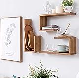 1 STÜCK Eiche Wandregale aus Holz, U-förmig, schwebende Regale zum Aufhängen, Bücherregal, Wand-Dekoration, 0.8