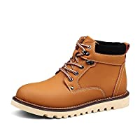 Genuine Leather Men Snow Boots Autumn Winter Outdoor Working Man Ankle Boot