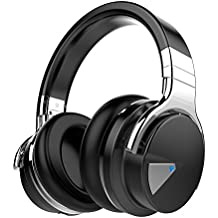 Cowin E-7 Active Noise Cancelling Wireless Bluetooth Over-ear Stereo Headphones with Microphone and Volume Control (Black)