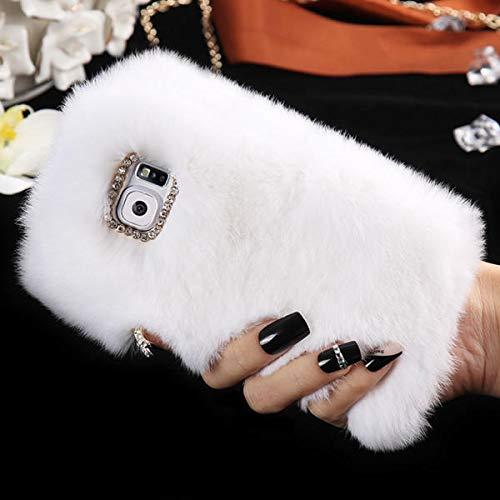 K8U152 @FATO Silky-Kaninchen-Haar-Diamant-Kasten-Abdeckung für Samsung-Galaxie-S7 Rex Trim