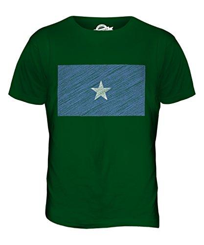 CandyMix Somalia Kritzelte Flagge Herren T Shirt Flaschengrün