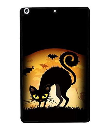 Fuson Designer Back Case Cover for Apple iPad Mini Wifi :: Apple iPad Mini Wifi + Cellular (7.9 Inches) (Cartoons Cat Bats Ghost Frightening )