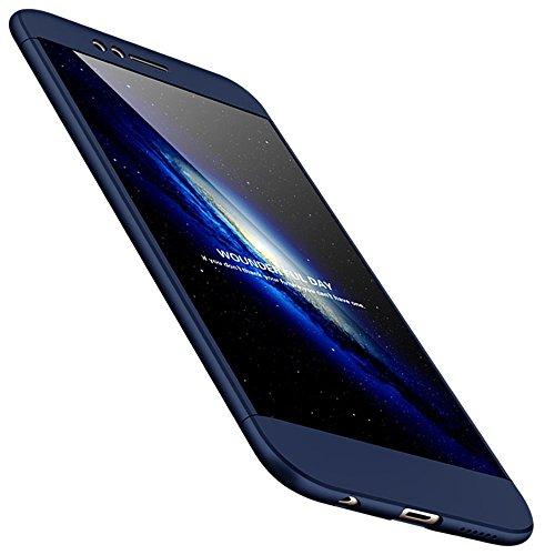 Huawei Nova 2 Hülle 3 in 1 Ultra Dünner PC harte Handy Schutzhülle 360 Grad Ganzkörper Schützend with Bumper Anti-Kratzer Shockproof für Huawei Nova 2 Blau