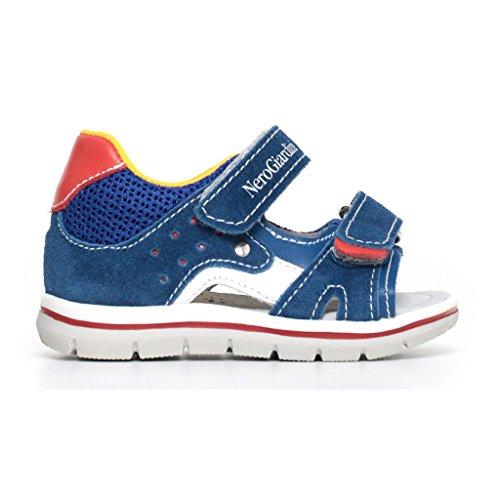 Nero Giardini Chaussures à Brides Garçon - Bleu - Bleu mer, 24 EU EU