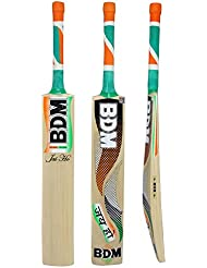 BDM Jai Ho Cachemira Willow Wood bate de cricket con lleva la caja del bastón de la manija tamaños adultos - Elija Peso