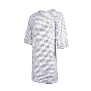Clinotest Patientenhemd/Nachthemd / Krankenhaushemd/Patientenhemd / Pflegehemd, Einheitsgröße, in der Farbe Sternchen Blau