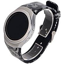 Gosuper Pulsera de silicona suave correa banda Smartwatch para Samsung Gear S2 SM-R720/
