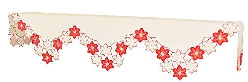 Xia Home Fashions Candy Cane Weihnachtsstern bestickt Durchbrucharbeit Weihnachten Kaminuhr Schal, 79von 58von 22
