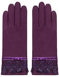 HIFUN 13357 hi-Call Frau lila Fingerhandschuhe Damenhandschuhe Handschuhe Bekleidung