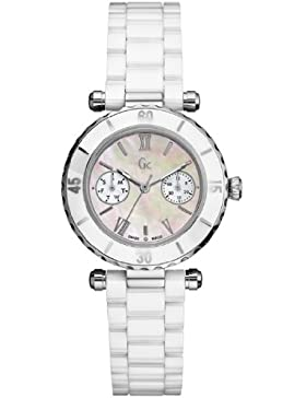 GUESS WOMEN'S CERAMIC CASE DATE WHITE CERAMIC MINERAL GLASS UHR I35003L1