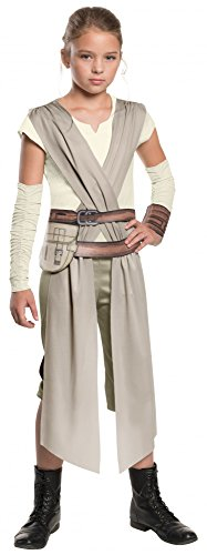 Star Wars das Erwachen der Macht Rey Mädchenkostüm Kostüm für Mädchen Gr. 104-152, Größe:L (Rey Aus Star Wars Kostüm)