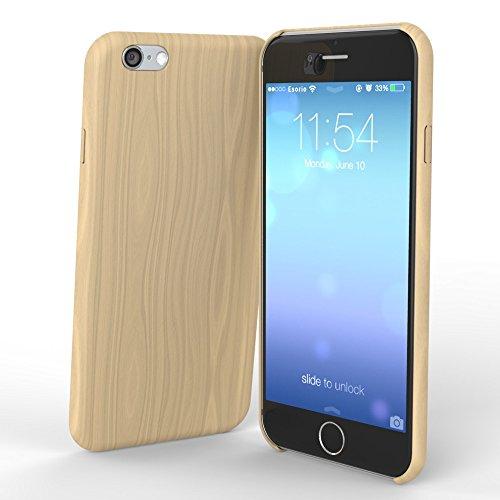 esorio® Hülle in Holzoptik für das Apple iPhone 6 und 6S in dunkelbraun hellbraun