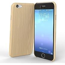 esorio® Funda en imitación a madera para el iPhone de Apple 6y 6S en color marrón claro