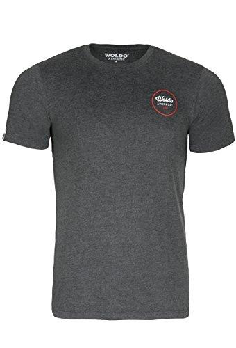 WOLDO Athletic T-Shirt Herren kurzarm Rundhals (L, darkgrey) (Athletic-t-shirt)