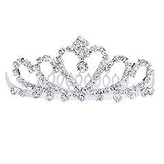 Idea Regalo - Pixnor Bling Bling cerimonia nuziale Matrimonio Strass Corona principessa diadema Tiara cerchio brillante