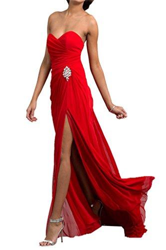 Missdressy - Robe - Trapèze - Femme Rouge - Rouge