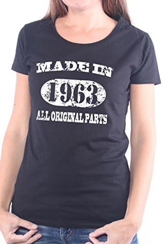 Mister Merchandise Ladies T-Shirt Made in 1963 All Original Parts Years Jahre Geburtstag Frauen Damen Tee Schwarz