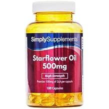Aceite de Borraja 500mg - 360 cápsulas - Hasta un año de suministro - Para la