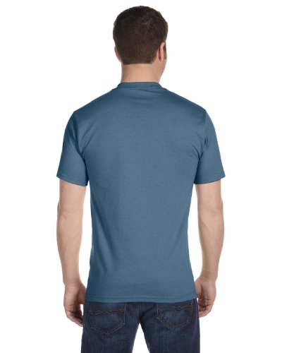 Hanes Lay-Flat Tag-Free Crewneck Beefy T-Shirt Denim