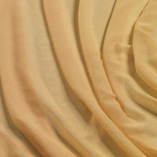 Home collection boucle tenda, poliestere, giallo, 140x290 cm