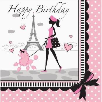 LN 12/18 2P HPY BD PARTY/PARIS (Paris Party Birthday Supplies)