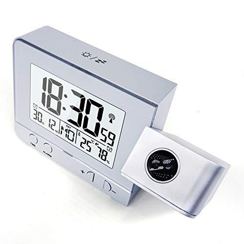 Unbekannt 8°KL Wecker Digitaluhr Vintage Projektionswecker Digital Date Snooze Function Backlight Drehbarer Weckprojektor Multifunktionale LED-Uhr #721821