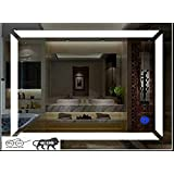 Arvind sanitary Glass Wall Mirror (24 x 18 inch, Multicolour)