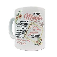 Idea Regalo - love print Tazza Coppia Innamorati Idee Regalo San Valentino Moglie