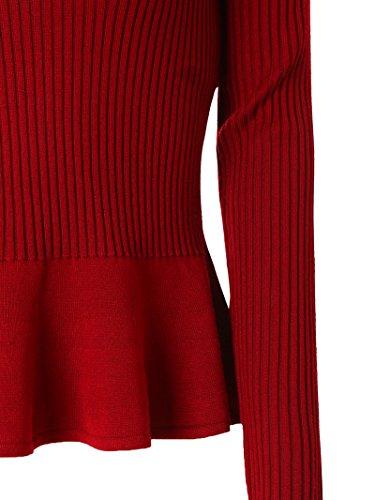 Mooncolour Damen Pullover Rot