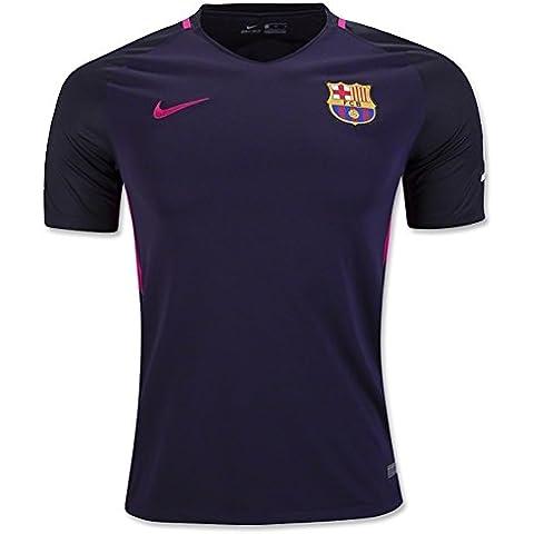 Nike FC Barcelona Yth Ss Aw Stadium Jsy - Camiseta de manga corta para hombre, color morado, talla