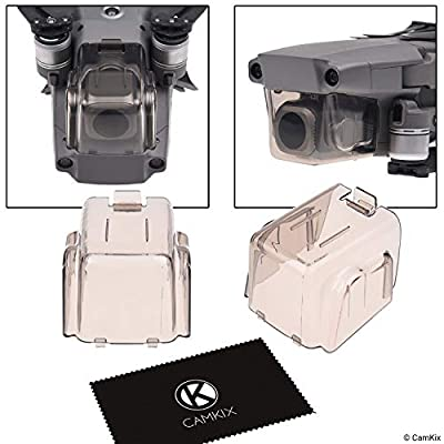Sun Hood (Grey) + 2in1 Gimbal Lock and Camera Shield (Transparent Grey) for DJI Mavic Pro/Platinum - Locks The Position of The Gimbal - Shields The Camera Against Impacts