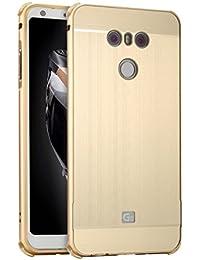 Miagon Métal Coque pour LG G6,Luxe Alliage Métal Galvanoplastie Technologie Très Mince Anti-Choc Difficile Protection Coque Étui Rigide Housse pour LG G6