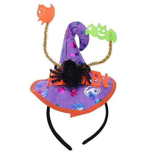 Einzigartige Familien Halloween Kostüm - Amosfun Halloween Stirnband Hexenhut Stirnband Boppers für Halloween Kostüm Party
