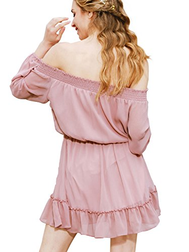 Simplee Apparel - Robe - Bandeau - Femme Mocha Pink