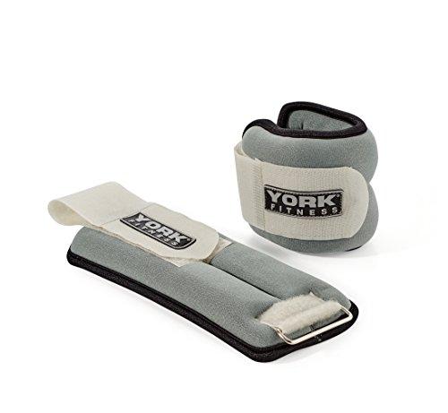 York Fitness Gewichtsmanschetten, schwarz/grau, 2 x 1 kg, 60025