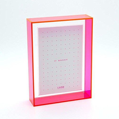 LUND LONDON Magnet-Bilderrahmen, 4x 6und 6x 4Fotos, zum Aufhängen, für Desktop-PC (Familie Bilderrahmen 4x6)