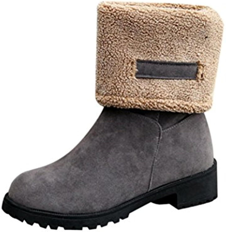 Botte FantaisieZ Mode Bottes Dames Femmes Plates Hiver Chaud à Chaussures de Neige Bottes pour Femmes à Chaud Talons Bas...B07FYZJ9S8Parent 0f9cd4