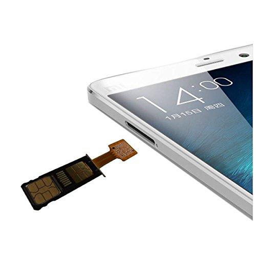 Dual SIM Karte Micro SD Adapter für Android Extender 2 Nano SIM Micro SIM Mini SIM Adapter für Xiaomi Redmi Note 3 4 3s PRO Max und Samsung Huawei Smartphones (Nano SIM)