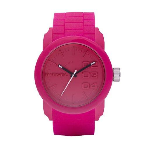 Diesel DZ1439 - Reloj analógico de cuarzo unisex, correa de plástico color rojo